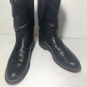 Justin Black Roper Boots sz 6A